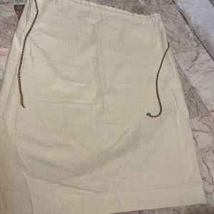Burlap type skirt vintage NWOT